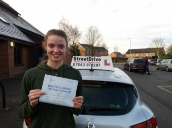 "Congratulations to ""Lillie Keith' who passed the new ""SatNav"" driving test today at Trowbridge DTC, it was her ""1st Attempt"", fantastic news.<br />