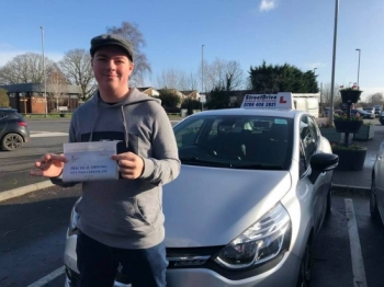 """Congratulations """"Lucas Regan"""" who passed his driving test today at Poole DTC, just the """"5"""" driving faults.<br /> <br /> Your instructor """"Shaun"""" and ALL of us at StreetDrive (SoM) are delighted for you, very well done - Passed Tuesday 11th February 2020."""
