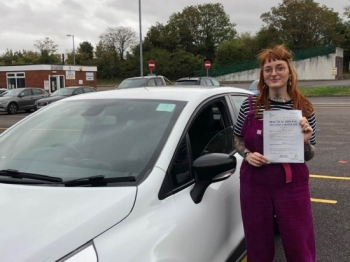 """Beep, beep, congratulations """"Lucy Smith"""" who passed her driving test """"1st"""" attempt at Poole DTC, just the """"FOUR"""" driving faults, very well done.<br /> <br /> Congratulations from your instructor """"Louise"""" and ALL of us at StreetDrive (SoM), drive carefully, keep safe 🚘 - Passed Monday 7th October 2019."""
