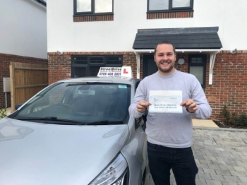 """Delighted for """"Luke Price"""" who passed his driving test """"1st"""" attempt at Poole DTC, very well done mate.<br /> <br /> Congratulations from your instructor """"Shaun"""" and ALL of us at StreetDrive (SoM), drive carefully, keep safe 🚘 - Passed Thursday November 2019."""