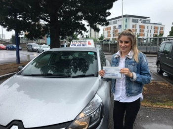 "Delighted for 'Maddy-Bell Taylor' who passed her driving test today at Poole DTC, 1st Attempt, ""FIVE"" driving faults"", fantastic news.<br />