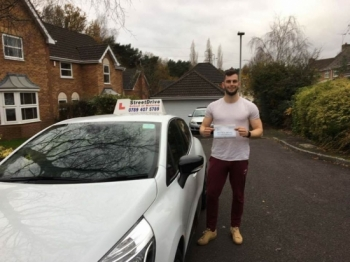 "Delighted for 'Matt Foreman' who passed his driving test today at Poole DTC, and at the ""1st Attempt� just 'FIVE' driving faults, fantastic news.<br />