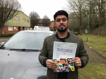 "Congratulations to 'Mo Miami' who passed his driving test today at Chippenham DTC, and at the ""1st attempt"", we are ALL delighted for you.<br />