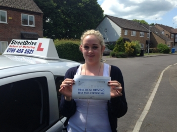 I passed my driving test with