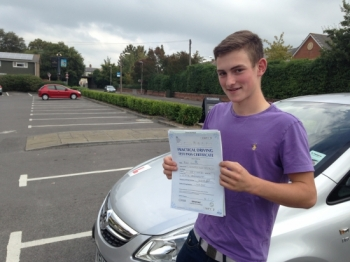 Congratulations 'Rory Doolan' who passed his driving test 1st attempt with just 5 driving faults today at Chippenham test centre. <br />