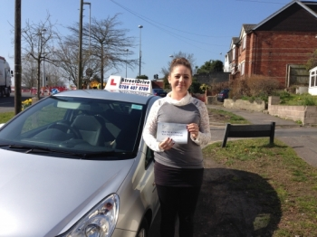 And this happened today, congratulations to Rosie Russell who passed her driving test on Monday 14th March 2016, just SIX faults, very well done.  Congratulations from your instructor