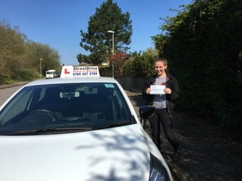 "Delighted for �Shauna Attwater' who passed her driving test today at Poole DTC, it was her ""1st Attempt� just ""FOUR� driving faults.<br />