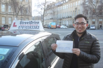 "Delighted for 'Thean Wei Ang' who passed the new ""SatNav� driving test today at Chippenham DTC, and 1st Attempt, such fantastic news.<br />