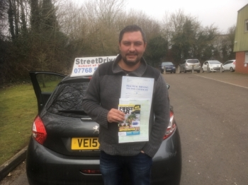 "Congratulations to �Tomasz Jerzak' who passed the new ""SatNav� driving test today at Chippenham DTC, fantastic news.<br />