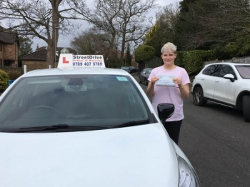 I was taught by Louise from StreetDrive and she was an excellent teacher. I passed my test second time and she was very kind and helpful through the whole process. <br />
