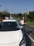 Megan passed with Tim Burwell Driving School