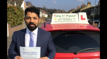 Hi everyone if you are looking to learn the skills for life then look no further then Time to pass driving school is the answer to your driving licence I have nothing to write everyone already said everything about my instructor Gulzar But I would definitely like to say a very big thanks for helping me to pass the driving test especially in London <br />