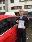 Dr Allan Lui, from SE10 passed with Time To Pass Driving School