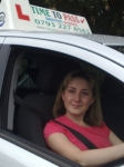 Miss Maria passed with Time To Pass Driving School