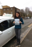 Miss Samantha From E8 passed with Time To Pass Driving School