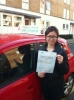Miss Anh ,From, London. passed with Time To Pass Driving School