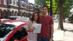 Miss.Gabriela from London E3. passed with Time To Pass Driving School