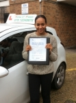 Miss. Venessa,from N17. passed with Time To Pass Driving School