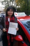Miss.Xiaohua Qian passed with Time To Pass Driving School