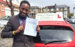 Mr Adelek From E8 passed with Time To Pass Driving School