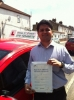 Mr Dhiraj From London E14 passed with Time To Pass Driving School