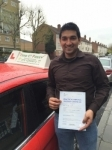 Mr Noble, from SE16 passed with Time To Pass Driving School