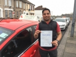 Mr Raj From E14 passed with Time To Pass Driving School