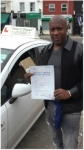 Mr Samuel from London SE10. passed with Time To Pass Driving School
