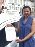 Mrs Mary passed with Time To Pass Driving School