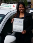 Mrs Pearly, from London E1W passed with Time To Pass Driving School