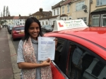 Mrs.J.Lakshmanan From, London passed with Time To Pass Driving School