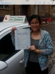 Ms.Eunice,from,London,E1 passed with Time To Pass Driving School