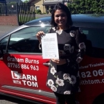 Amrita Patel passed with Learn with Tom