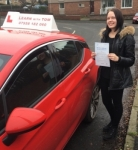 Elina Salcevica passed with Learn with Tom