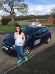 Liz Rowe passed with Top Gear Driving School
