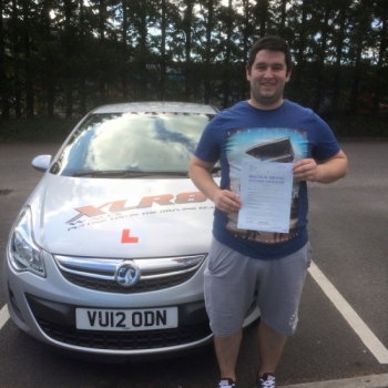 31.7.15 - Another 1st time pass for our Peter.... Congratulations to Craig Morgan on passing his driving test in Merthyr Tydfil with only 2 minors... lovely result!...