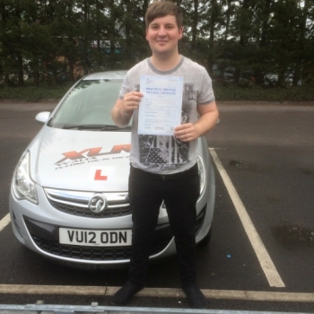 31.7.15 - Congratulations to Damien Miles who passed his driving test in Merthyr Tydfil 1st time with our instructor Peter.... stunning result :-)...