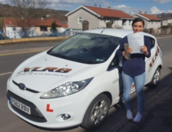 31.3.2016 - Congratulations goes out to Danielle Marshman who passed her driving test today in Abergavenny with only 2 minors......