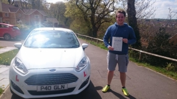 4.5.16 - Congratulations to Jacob Thompson on passing his test first time this afternoon in Pontypridd on our semi intensive course. Looking forward to seeing you out and about...