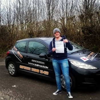 22.2.2016 - Well done James on passing your driving test today in Abergavenny with just 4 minors. Super chuffed mate.....congrats...