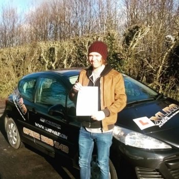 15.1.2016 - Joe passed his test today in Abergavenny first time with just six teeny tiny minors after our 20 hour semi intensive course. Well done Joe, brilliant result especially with the current road conditions...