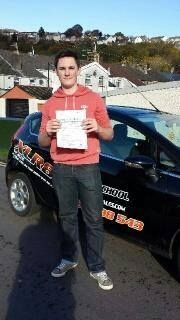 13.11.13 - Congratulations Joe on passing your driving test today in Pontypridd... Enjoy your new car :-)...