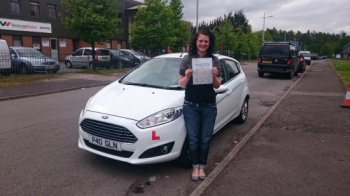 25.5.16 - Congratulations to Karly Jayne Adams on passing her test today in Merthyr Tydfil with only 3 minors looking forward to seeing you out in your new car :-)...