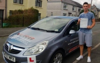Kieran passed 1st time after taking only 26 hours of driving lessons on 3rd September 2013. A massive well done from everyone at XLR8 Wales Driving School...