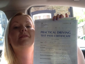 24.5.15 - Another amazing result from Natalie Collins from Abertridw who passed her Automatic Driving test in Merthyr Tydfil!! Congratulations!!!!...