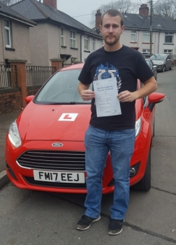 8/1/18 - Congratulations goes out to Philip Davies who passed his driving test 1st time today in Merthyr Tydfil after taking up a semi intensive driving course... A huge thank you for all the giggles and good luck in welcoming your new baby next month!!...