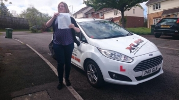 5.5.15 - Congratulations to Sarah McGinley on passing her test 1st time this morning in Pontypridd good luck hunting for your new car and looking forward to seeing you out and about...