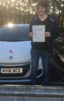 5/10/2017 - Congratulations to Zak King who passed his driving test today in Merthyr 1st time with our Peter :-)...