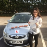 Abby Bunce passed with XLR8 Wales Driving School