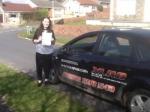 Alice Eklund-Walker passed with XLR8 Wales Driving School